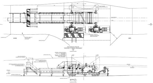 ug conveyor installations  u2013 mg32 tripper mechanical design